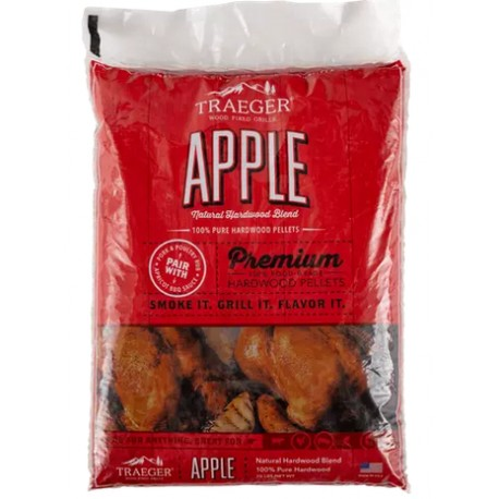 Traeger Apple BBQ Wood Pellets - Confezione da kg 9